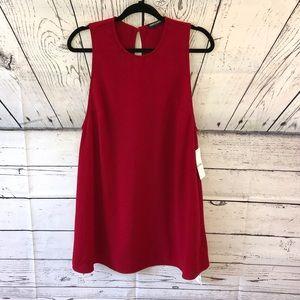 NEW American Apparel Blood Red Dakota Mini Dress